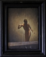Oil on Slate, 2010, 11.5 x 8.5 inches, 16 x 13 inches framed