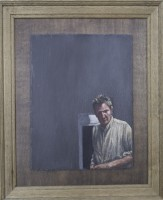 Oil on Slate, 2011, 22.5 x 18.5 inches framed