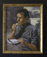 Oil on Board, 1998, 10.5 x 8 inches, 12.75 x 10.5 inches Framed